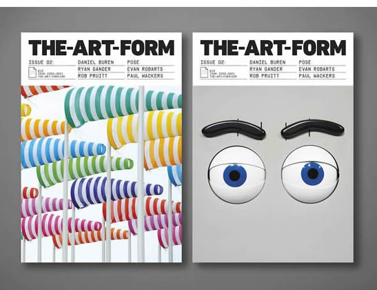 The-Art-Form: Issue 2. Daniel Buren, Ryan Gander, Rob Pruitt, POSE, Evan Robarts and Paul Wackers