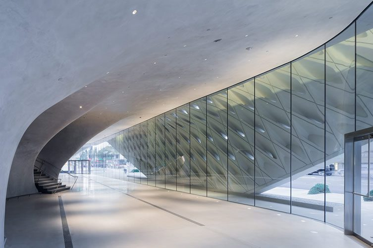 The Broad museum's lobby with interior veil