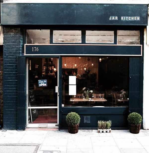 Jar Kitchen Covent Garden, London. Independent Farm-to-Table Restaurant by Lucy Brown and Jenny Quintero
