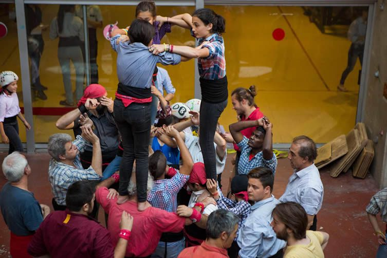 A Catalan tradition of human towers that began as a representation of Christ and the cross some 200 years ago, the Castellers have parallels for Catalan culture at large