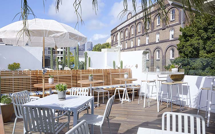 The Rooftop at Quarryman's Hotel Pyrmont Sydney by Matt Woods Design