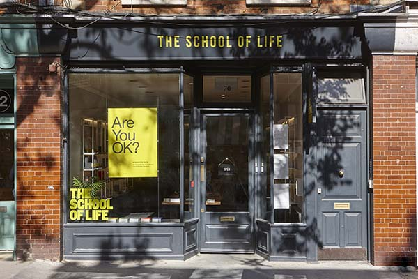 The School of Life Bloomsbury, London Shop Receives Redesign