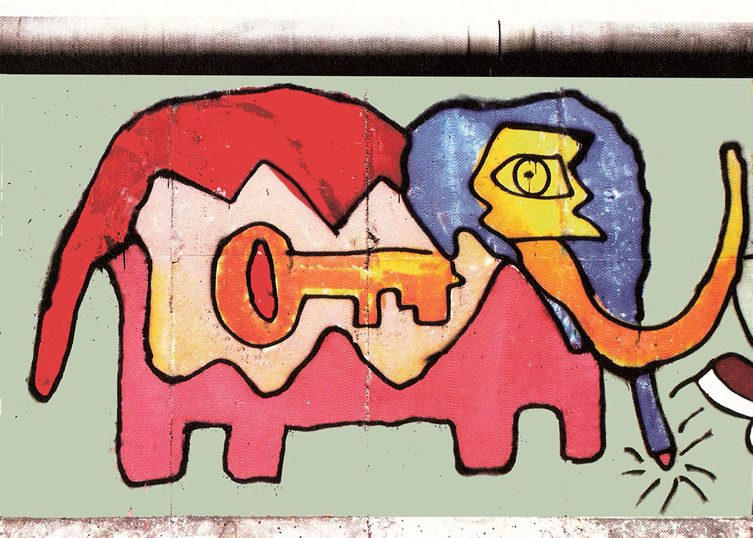 Thierry Noir's Berlin Wall