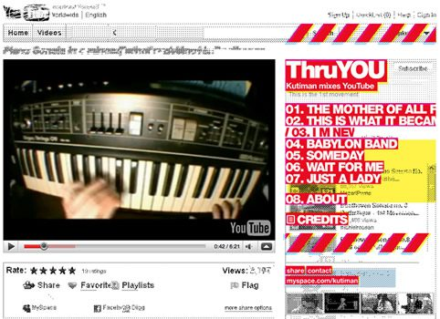 Thru You, Kutiman Mixes YouTube