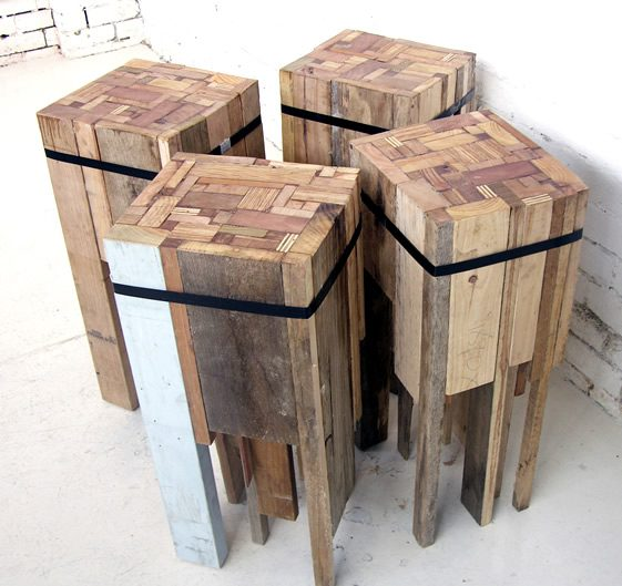 Offcut Bar Stools by Edwards Moore