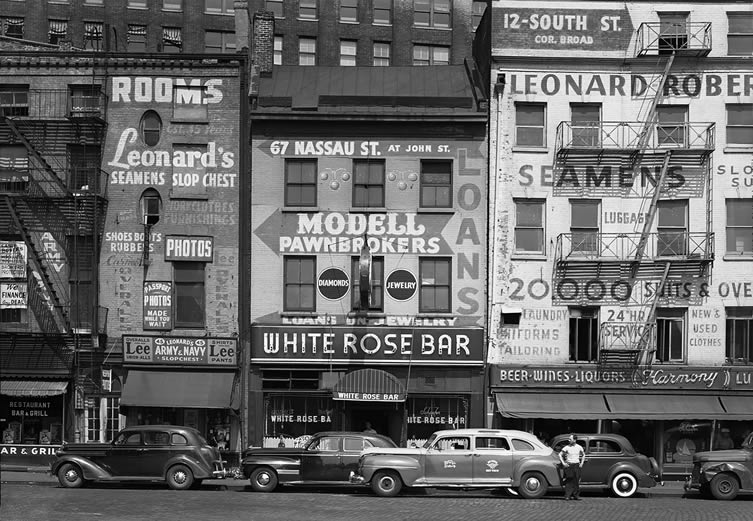 The White Rose Bar on Sixth Avenue, 1948