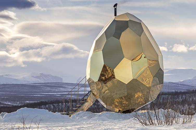 Solar Egg Public Sauna by Futurniture and Bigert & Bergstrom is Winner in Architecture, Building and Structure Design Category, 2017 - 2018.