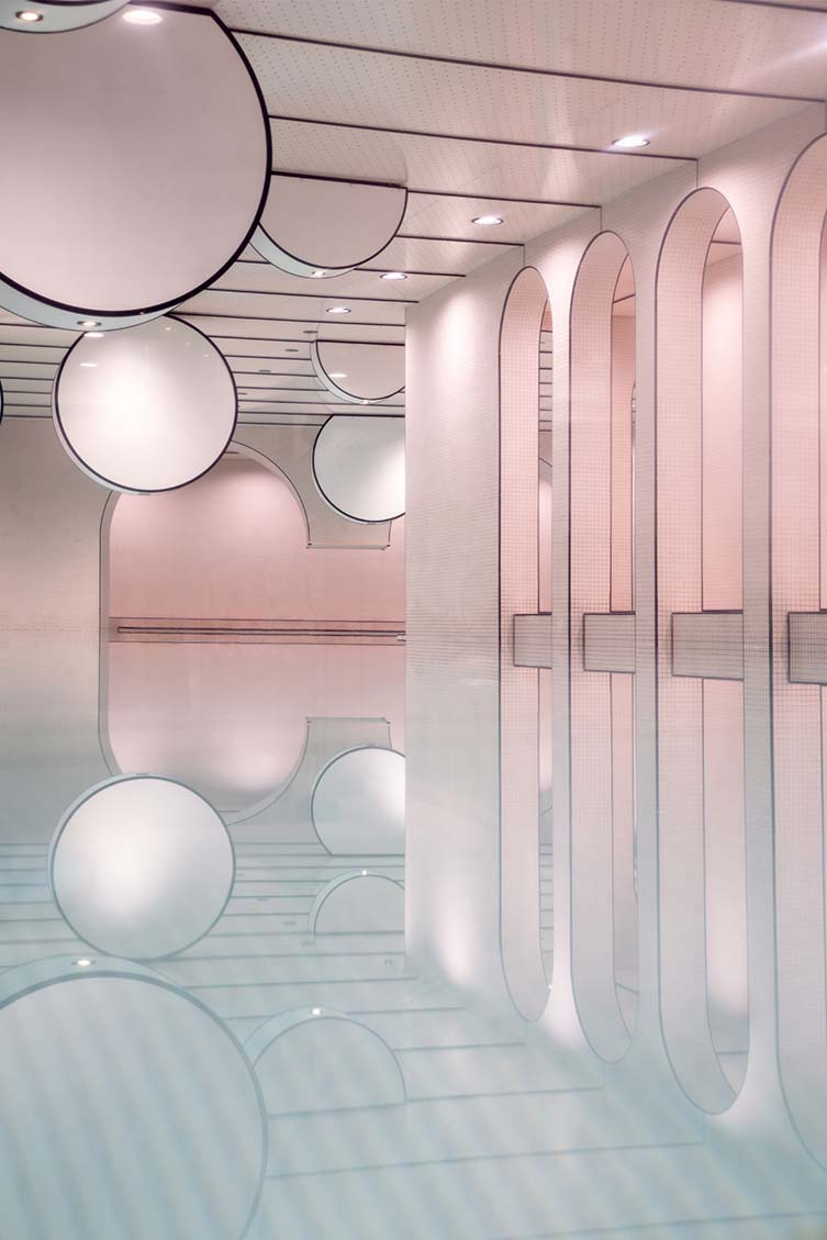 Loong Swim Club by Xiang Li; Winner in Interior Space and Exhibition Design Category, 2019—2020.