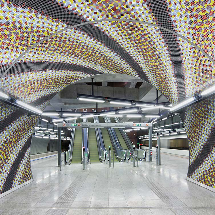 Budapest M4 Metro Stations by Palatium Studio Ltd is Winner in Architecture, Building and Structure Design Category, 2015 - 2016.