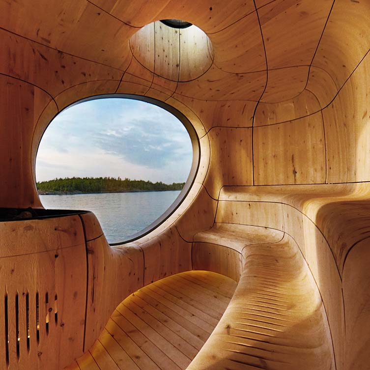 Grotto Sauna Freestanding Residential Sauna by Partisans is Winner in Architecture, Building and Structure Design Category, 2014 - 2015.