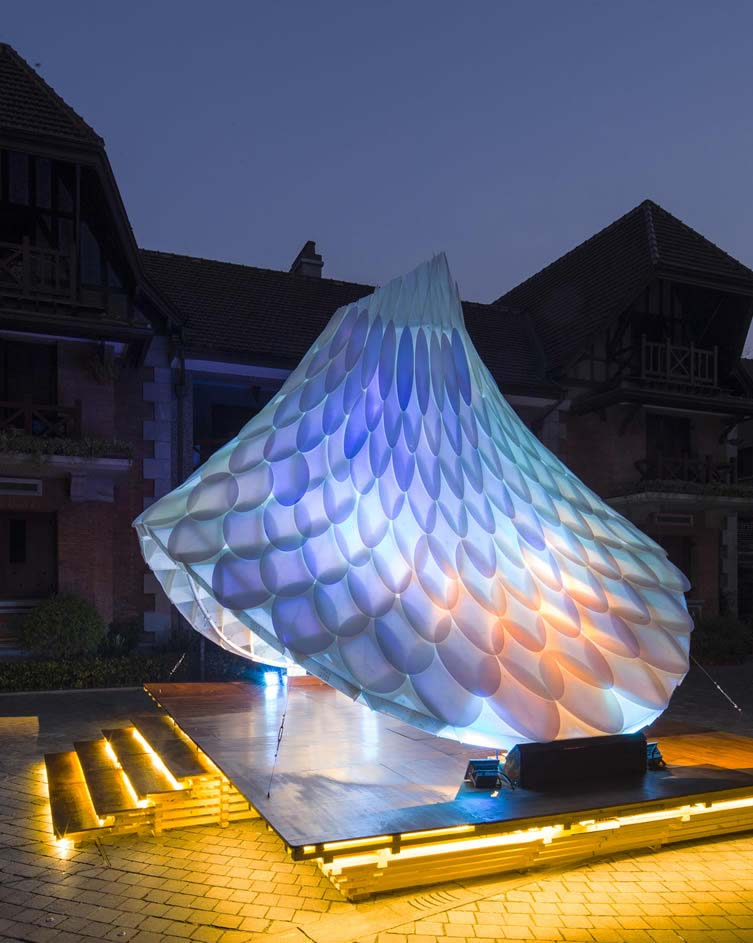 Resonet Pavilion-Sinan Mansions Pavilion by William Chen-Creative Prototyping Unit