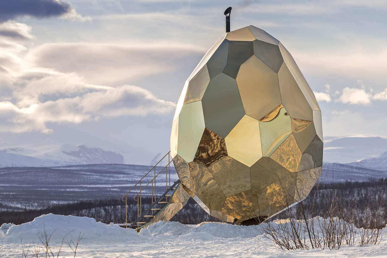 Solar Egg Public Sauna by Futurniture and Bigert & Bergstrom