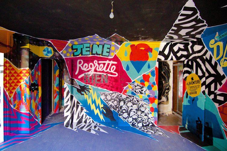 tour paris 13 street art exhibition. Black Bedroom Furniture Sets. Home Design Ideas