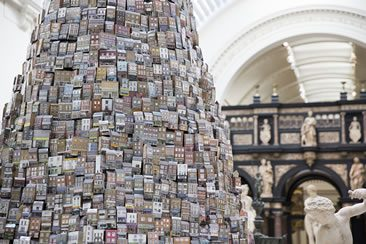 Barnaby Barford, Tower of Babel at V&A, London