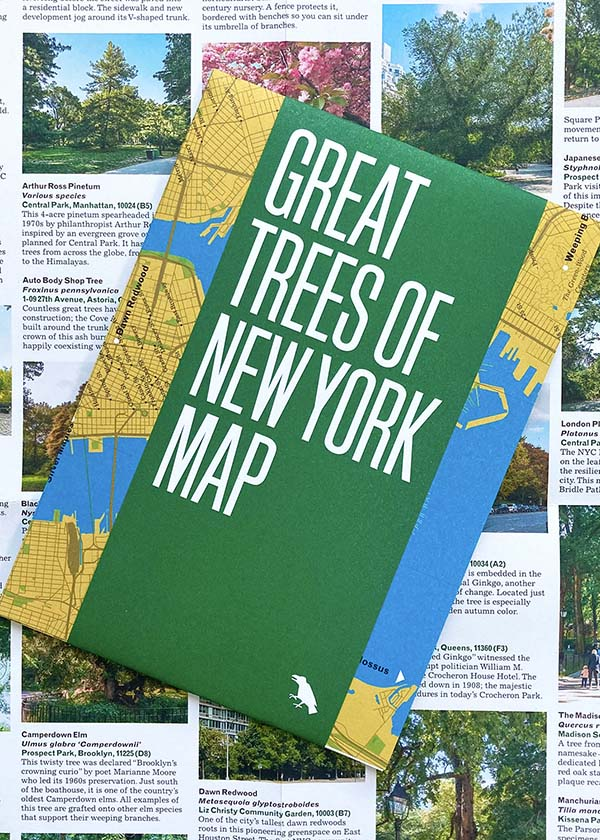 Great Trees of New York Map, Urban Nature Guide by Blue Crow Media