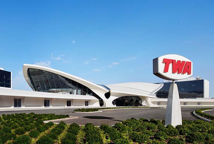 TWA Hotel, JFK Airport Hotel in Iconic Eero Saarinen Futurist Flight Terminal
