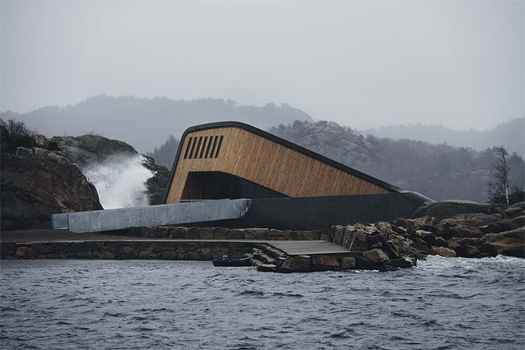 Under Lindesnes Norway, Europe's First Underwater Restaurant Designed by Snøhetta