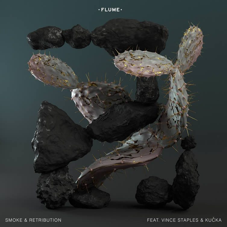Artwork for the Flume single Smoke & Retribution by Australian artist Jonathan Zawada