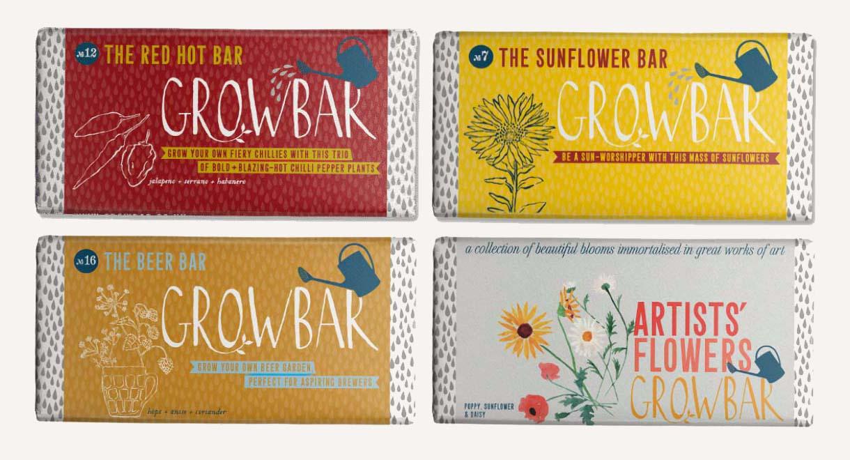 Growbar flowers and edibles