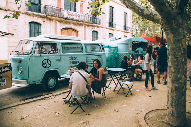 Van Van Food Truck Market Barcelona