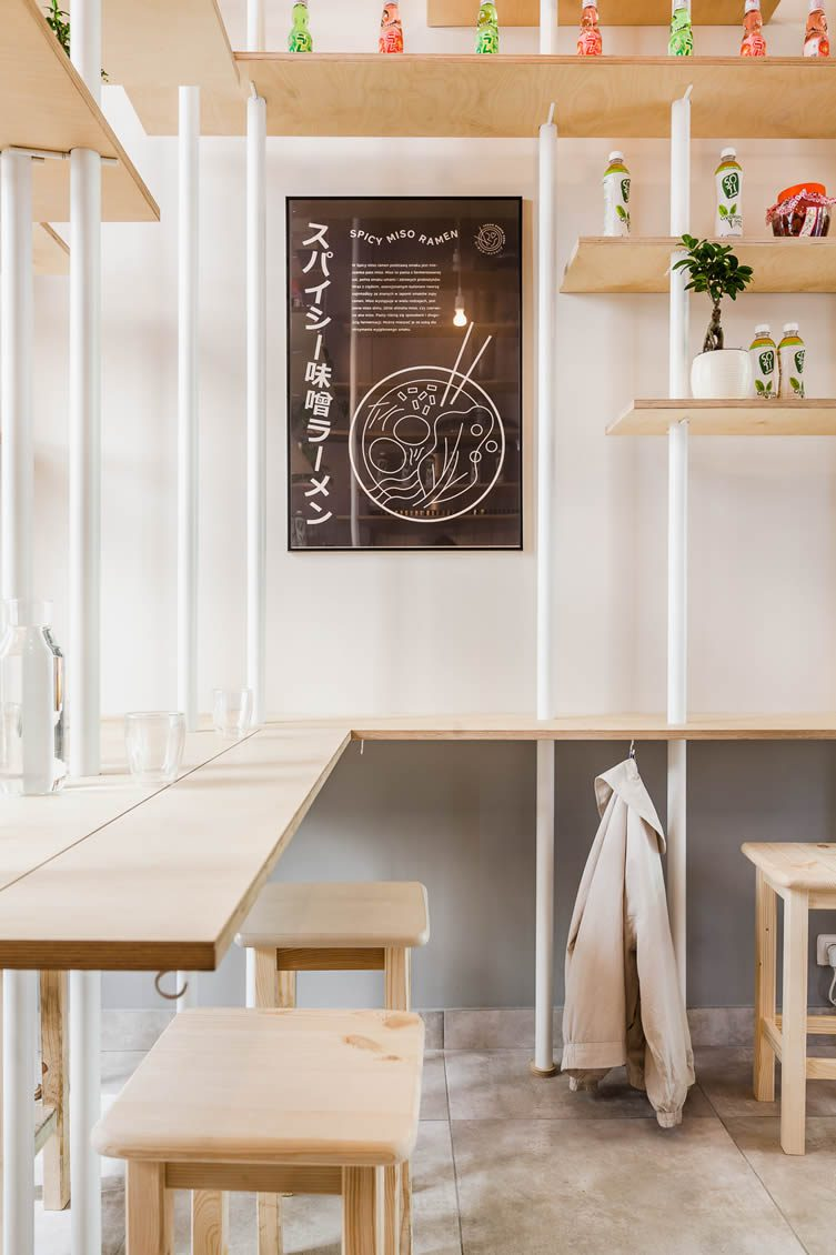 Vegan Ramen Shop by MFRMGR Architects