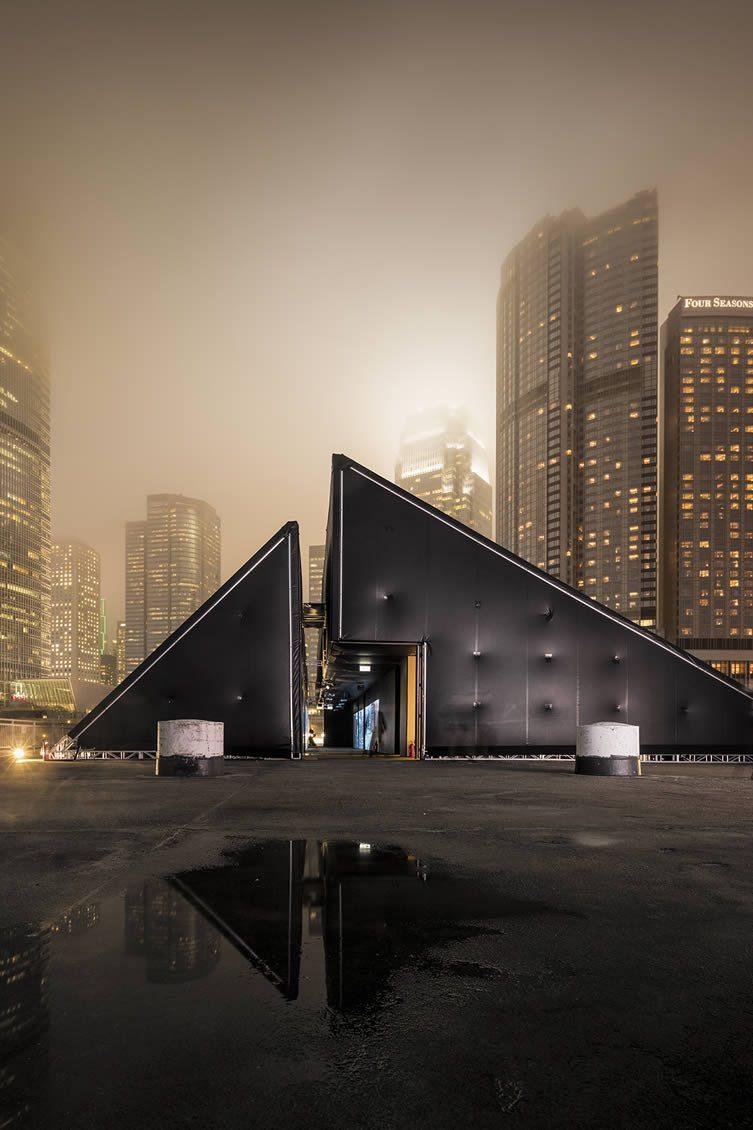 Vhils DEBRIS Structure designed by Pedrita Studio