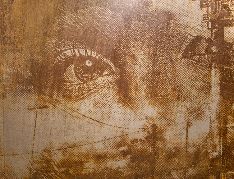 Vhils Dissonance at Lazarides Gallery, London
