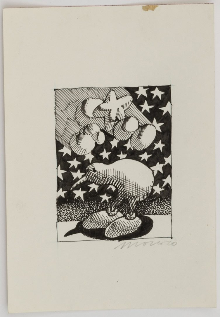 Victor Moscoso Psychedelic Drawings 1967-1982 at Andrew Edlin Gallery, New York