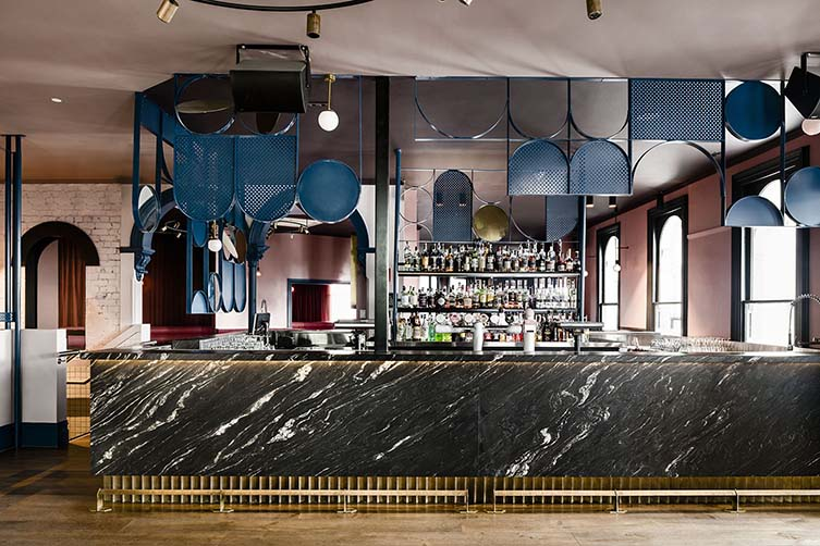 Village Belle Hotel Melbourne, St Kilda Bar and Restaurant designed by Technē Architecture + Interior Design