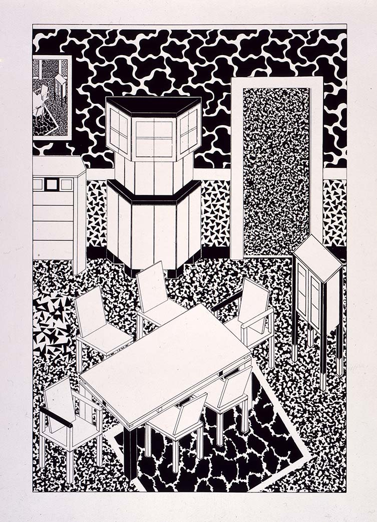 George Sowden, Drawing for interiors