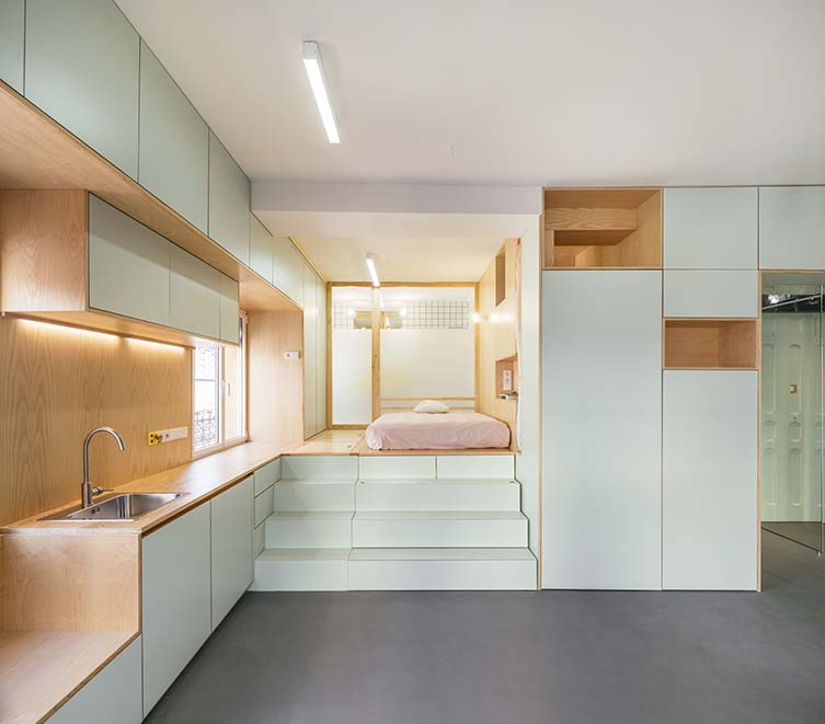 elii [oficina de arquitectura], Yojigen Poketto Apartment
