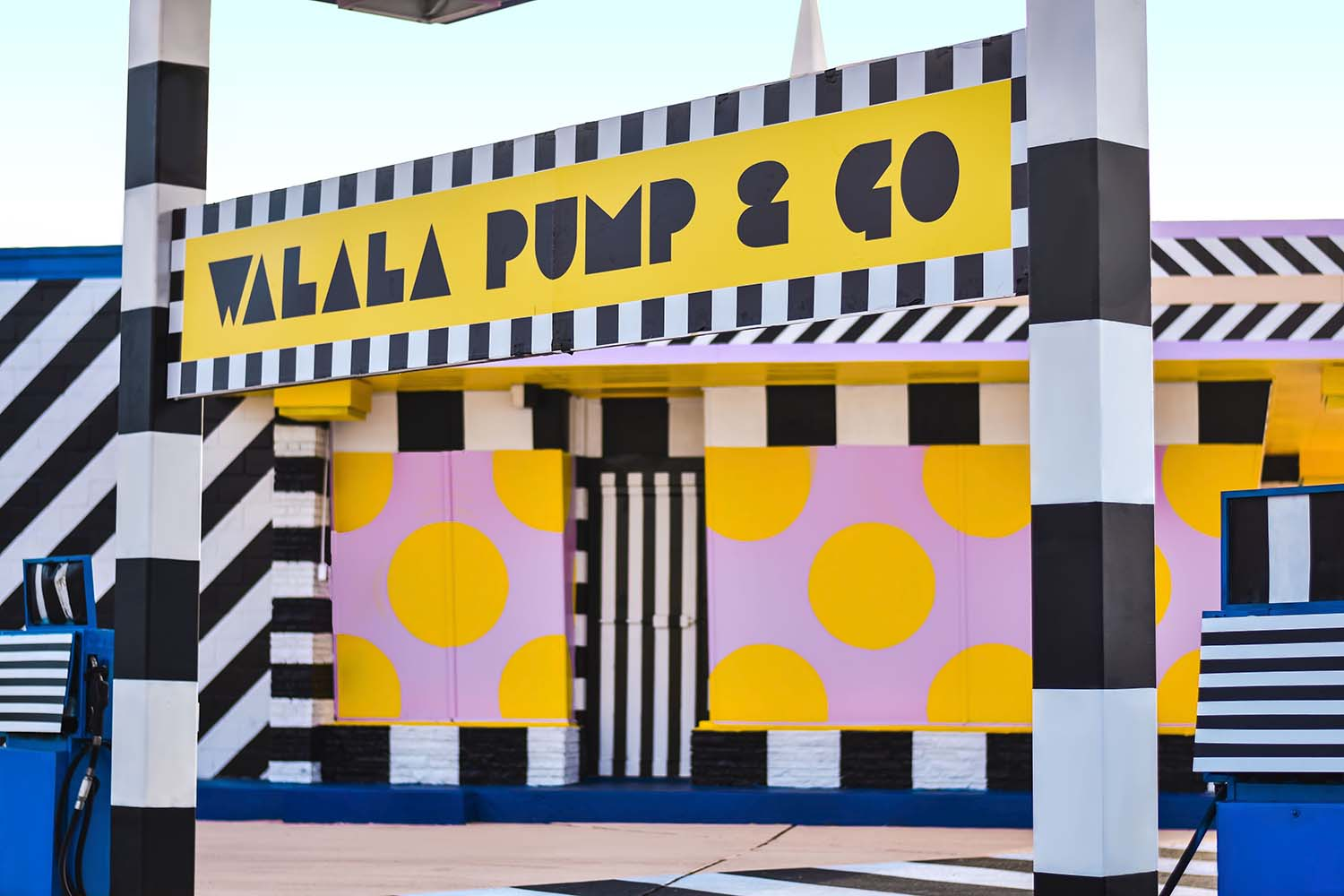 Walala Pump & Go, Downtown Fort Smith Arkansas Unexpected Street Art Festival by Justkids