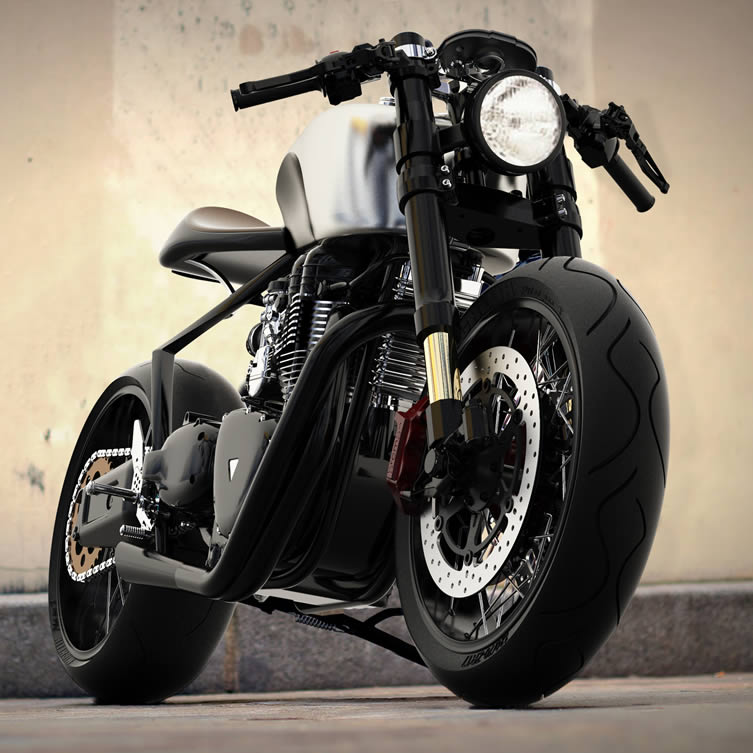 Black Shadow H-E Concept Hydrogen-Electric Hybrid Motorcycle by Mark Norton Menéndez. Country: United Kingdom