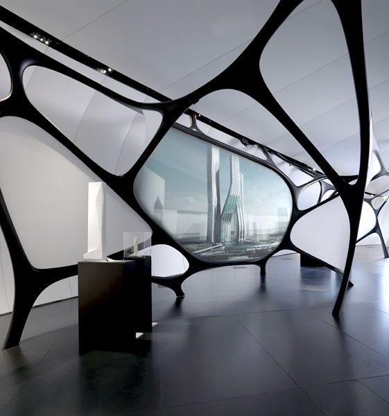 Zaha Hadid at the Institut du Monde Arabe